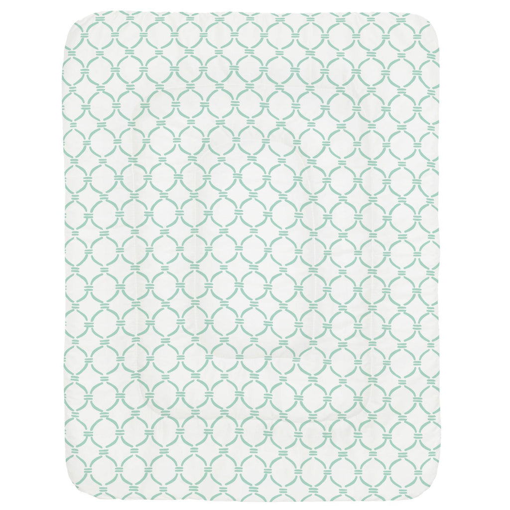 Product image for Mint Lattice Circles Crib Comforter
