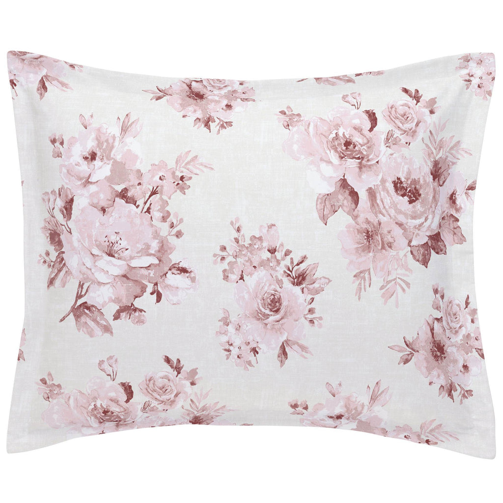 Product image for Rose Farmhouse Floral Pillow Sham