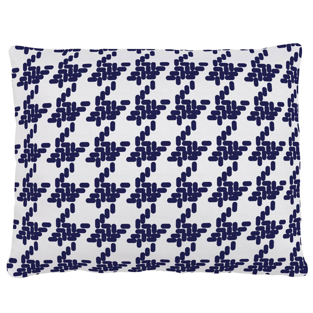 Product image for Windsor Navy Modern Houndstooth Accent Pillow