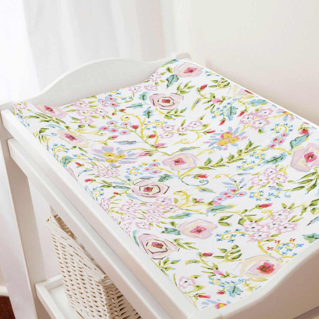 Product image for Pink Primrose Changing Pad Cover