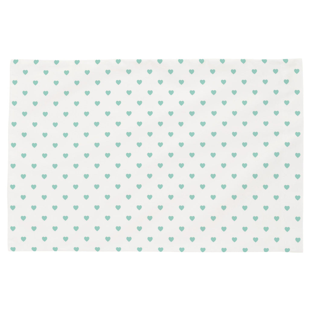 Product image for Mint Hearts Toddler Pillow Case