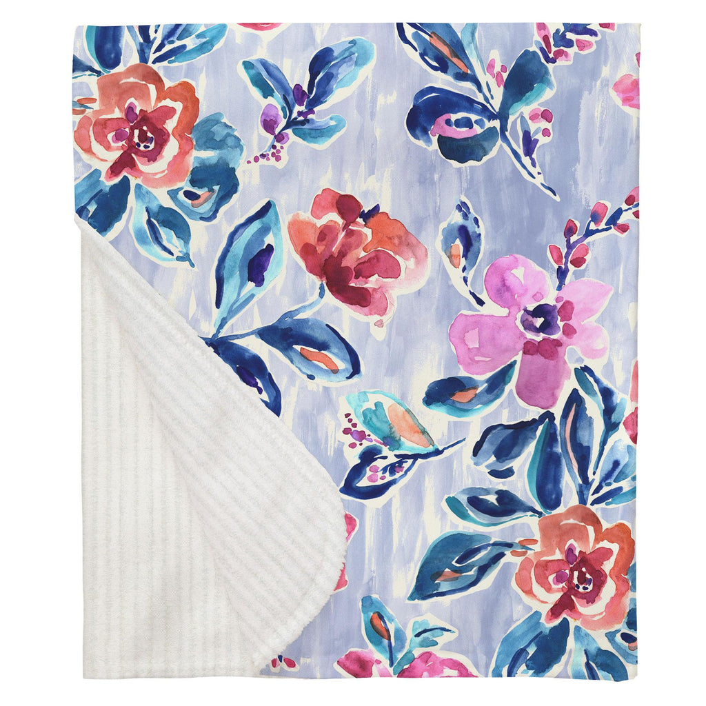 Product image for Pink and Lavender Garden Baby Blanket