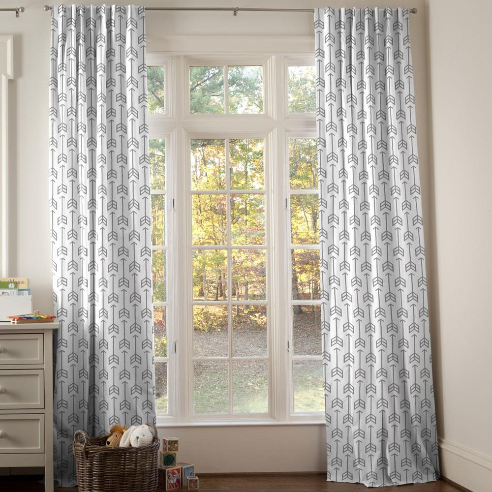 Product image for Cloud Gray Arrow Drape Panel