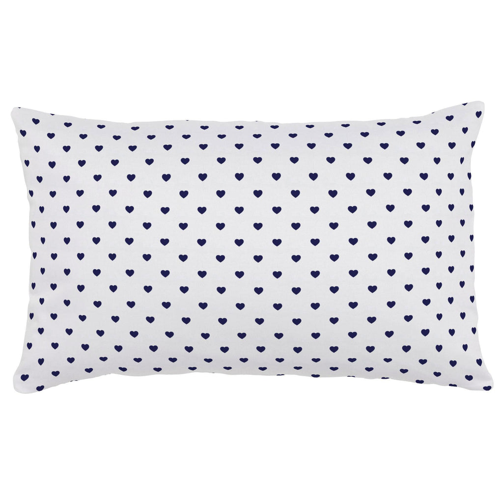 Product image for Windsor Navy Hearts Lumbar Pillow