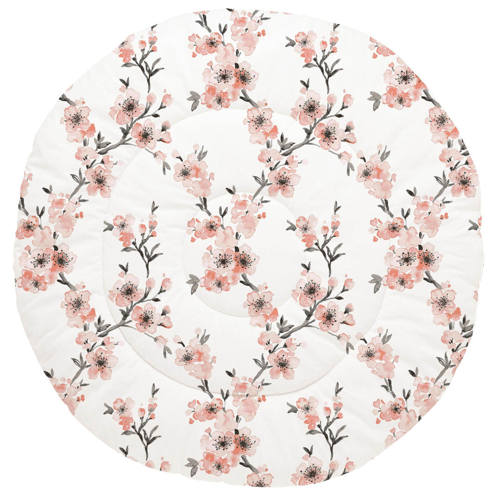 Product image for Light Coral Cherry Blossom Baby Play Mat