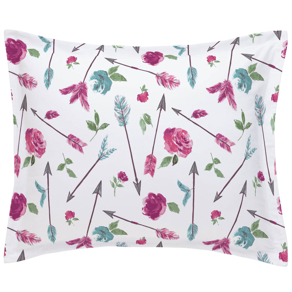 Product image for Floral Arrow Pillow Sham