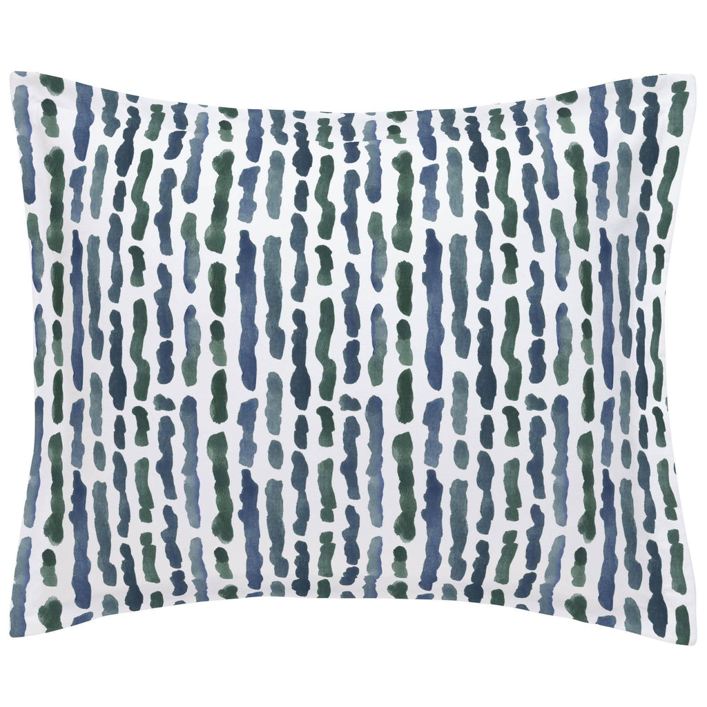 Product image for Sea Green Stripe Pillow Sham