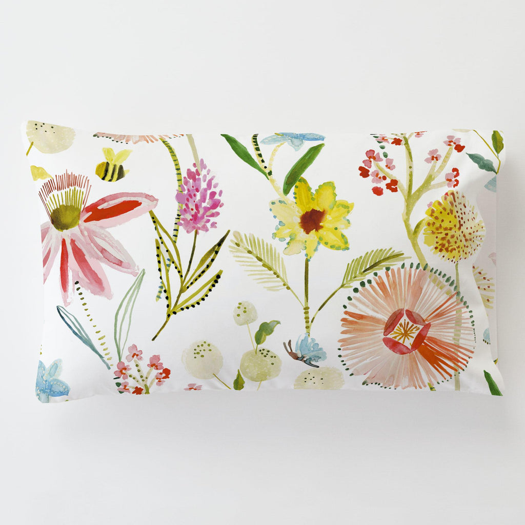 Product image for Watercolor Springtime Toddler Pillow Case with Pillow Insert