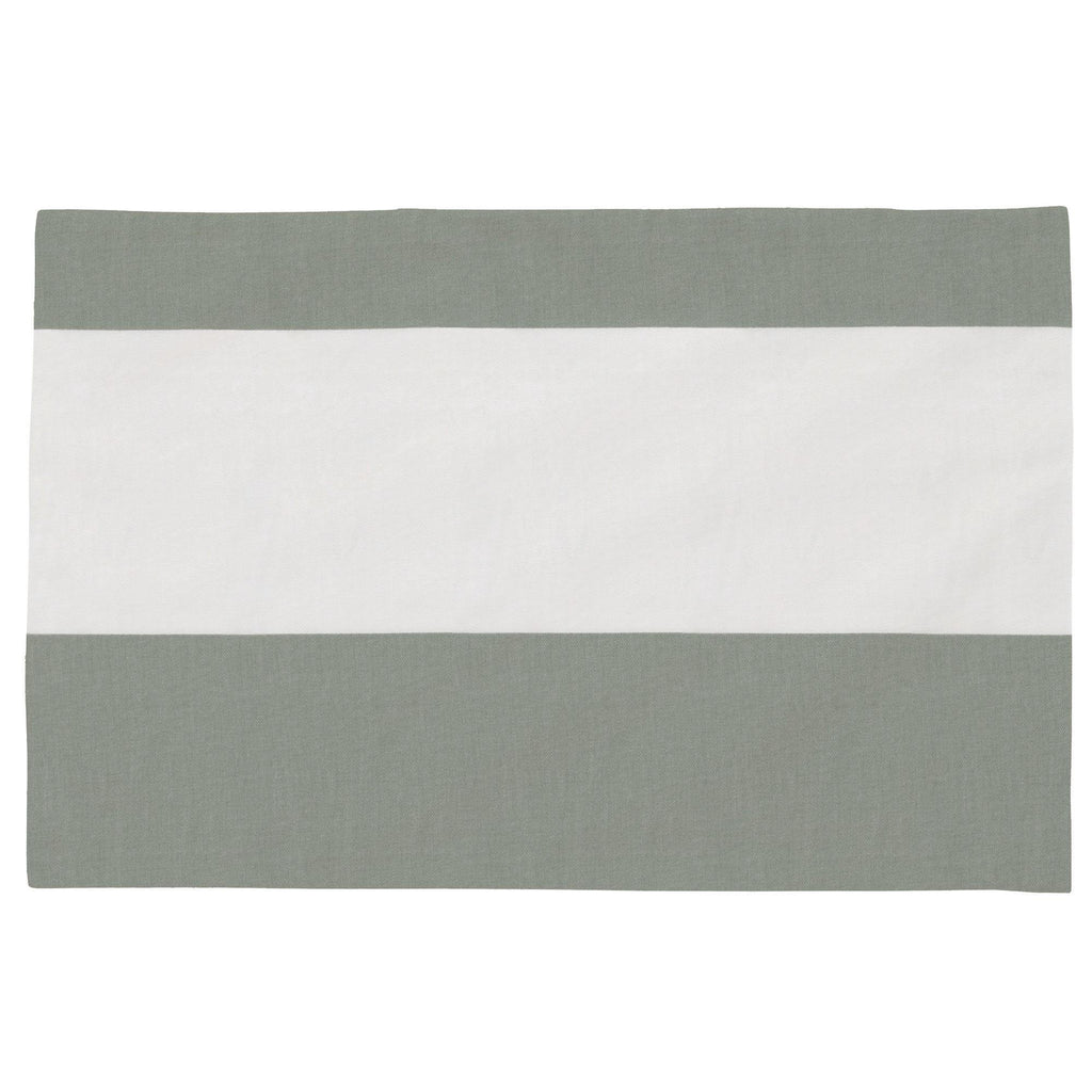 Product image for Cloud Gray Horizontal Stripe Toddler Pillow Case