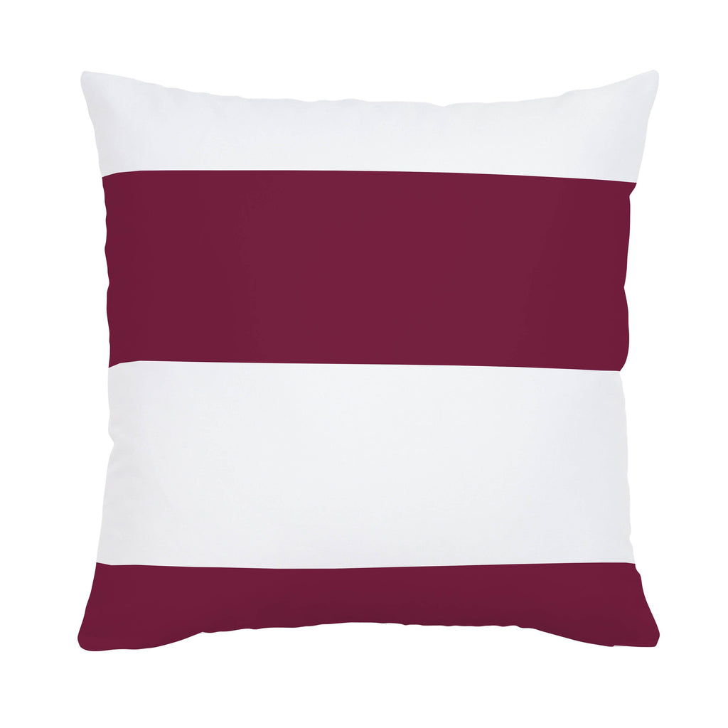 Product image for Maroon Horizontal Stripe Throw Pillow