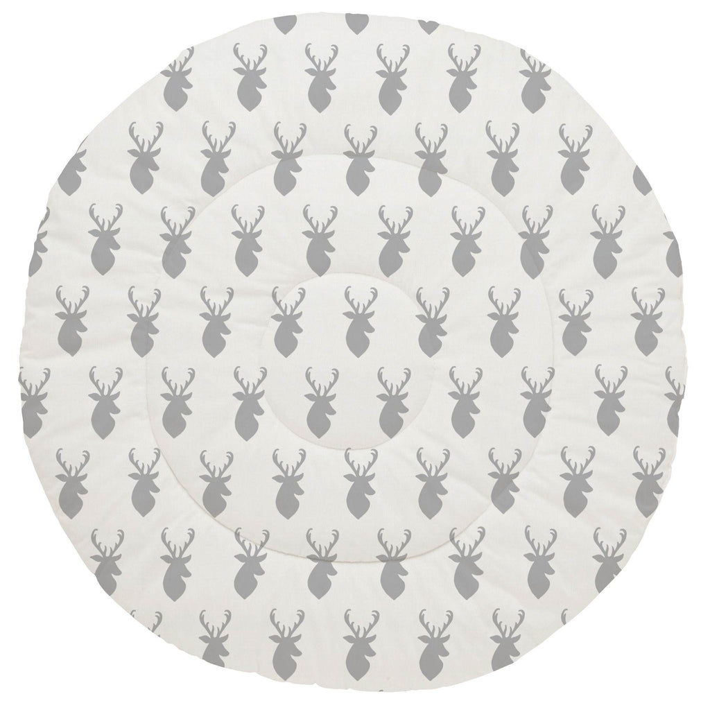 Product image for Silver Gray Deer Head Baby Play Mat