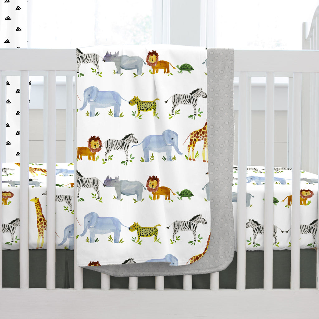 Product image for Painted Zoo Baby Blanket