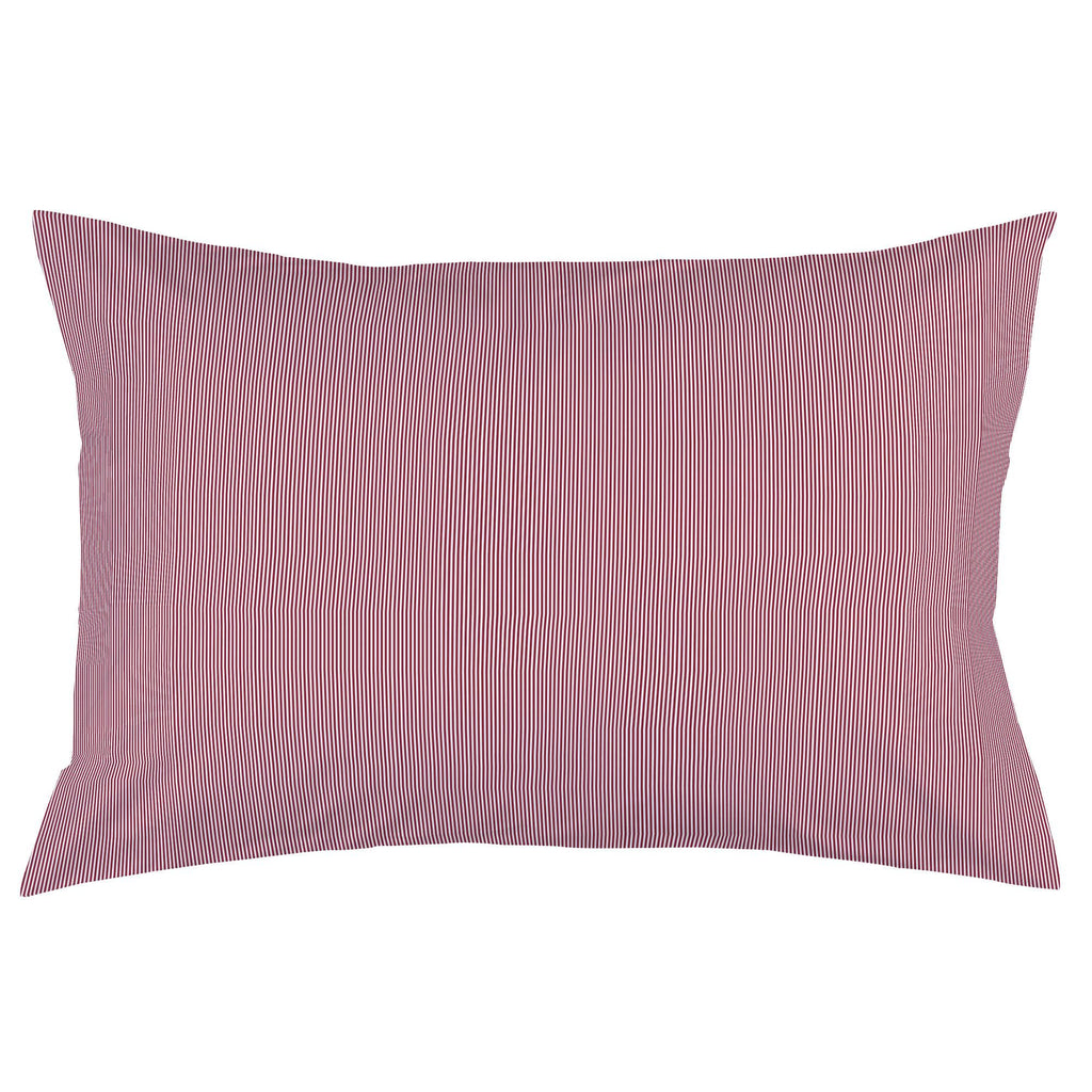 Product image for Crimson Mini Stripe Pillow Case