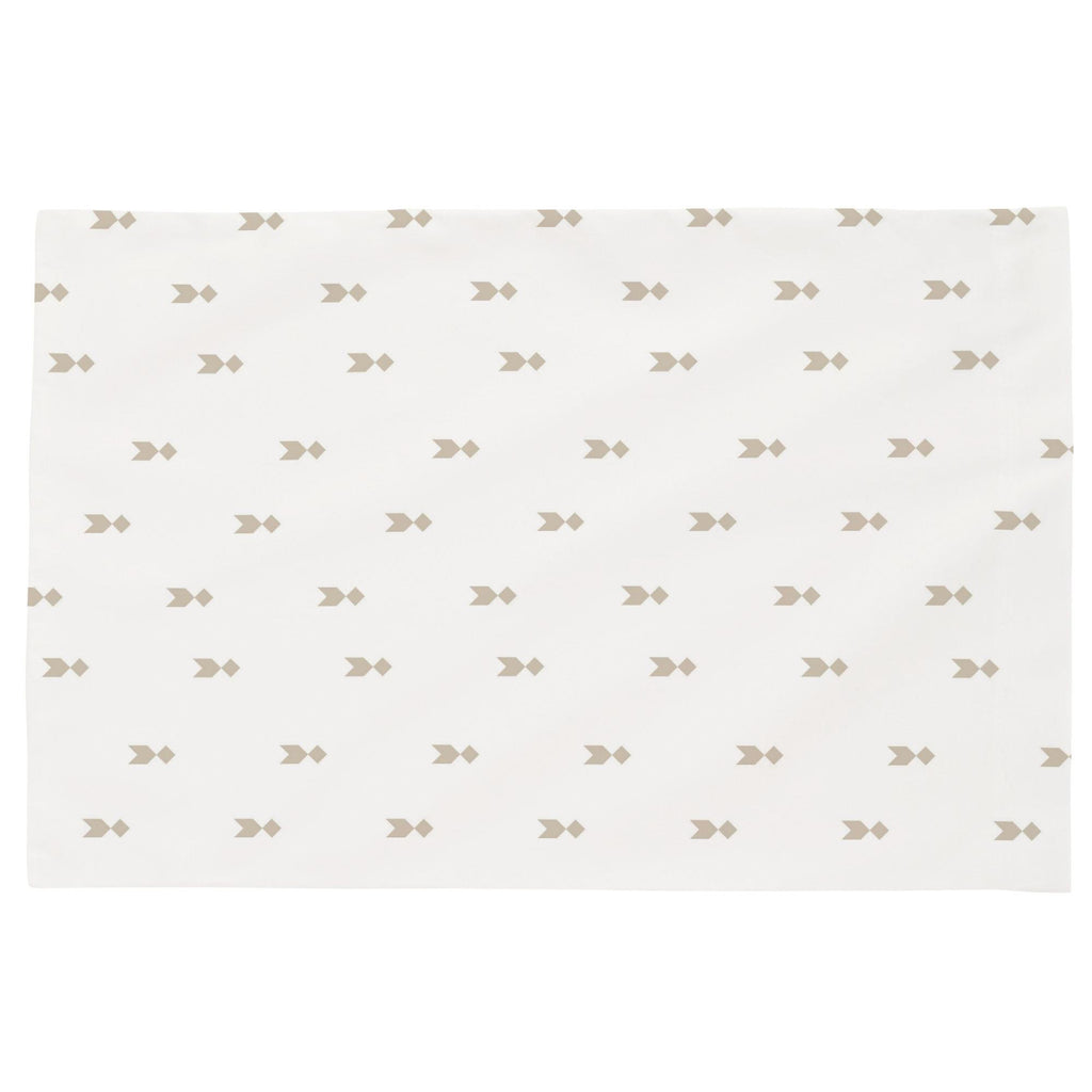 Product image for Taupe Flying Diamonds Toddler Pillow Case