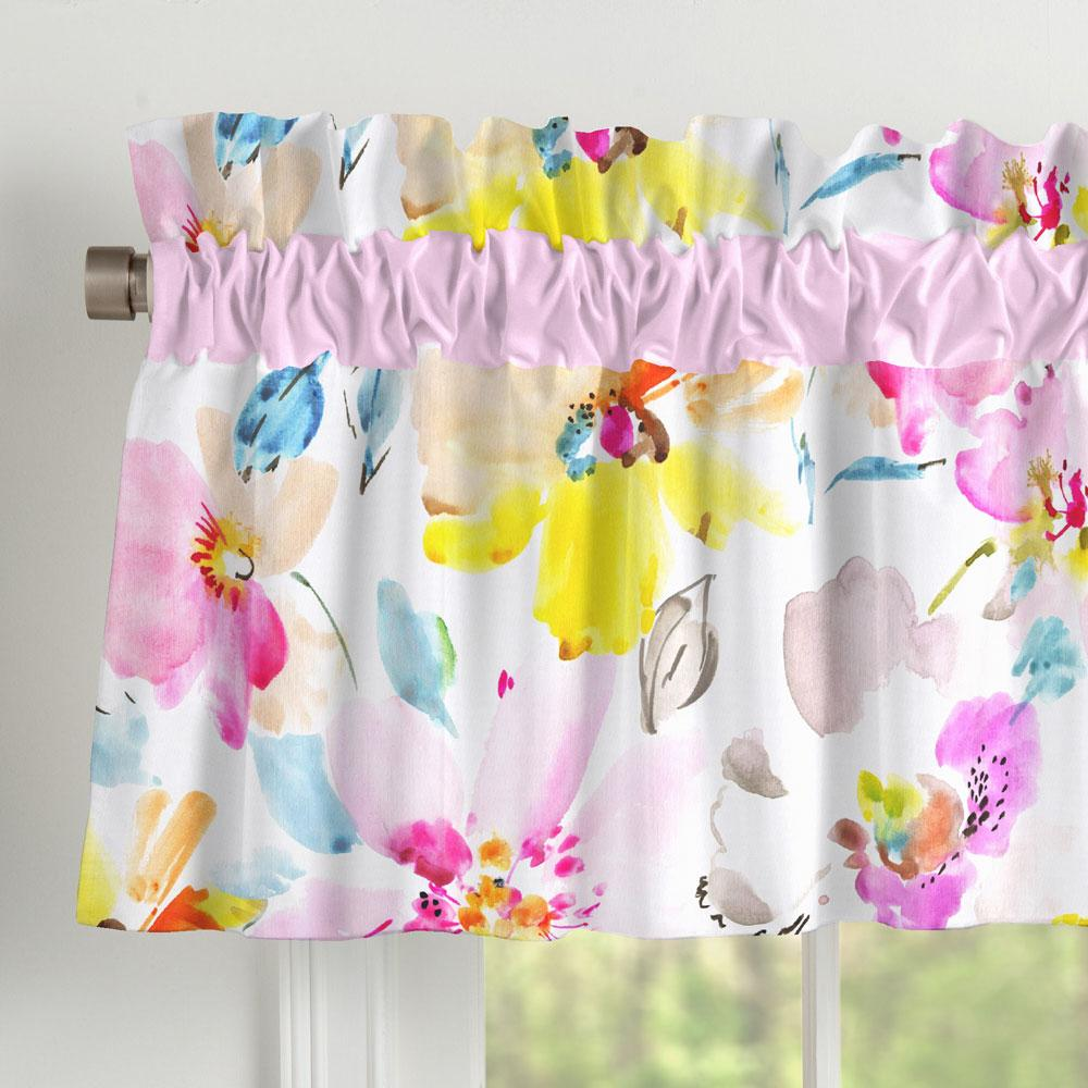 Product image for Watercolor Floral Window Valance