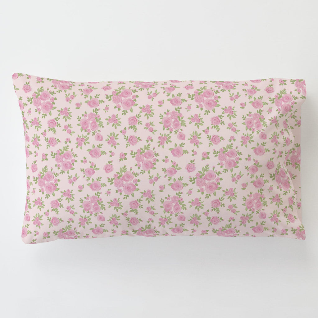 Product image for Pink Rosettes Toddler Pillow Case with Pillow Insert