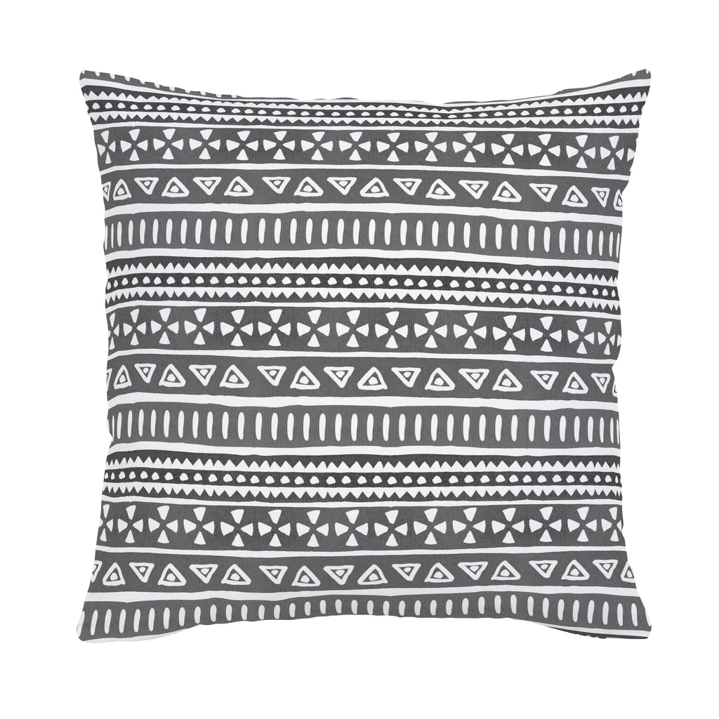 Product image for Gray Watercolor Tribal Throw Pillow
