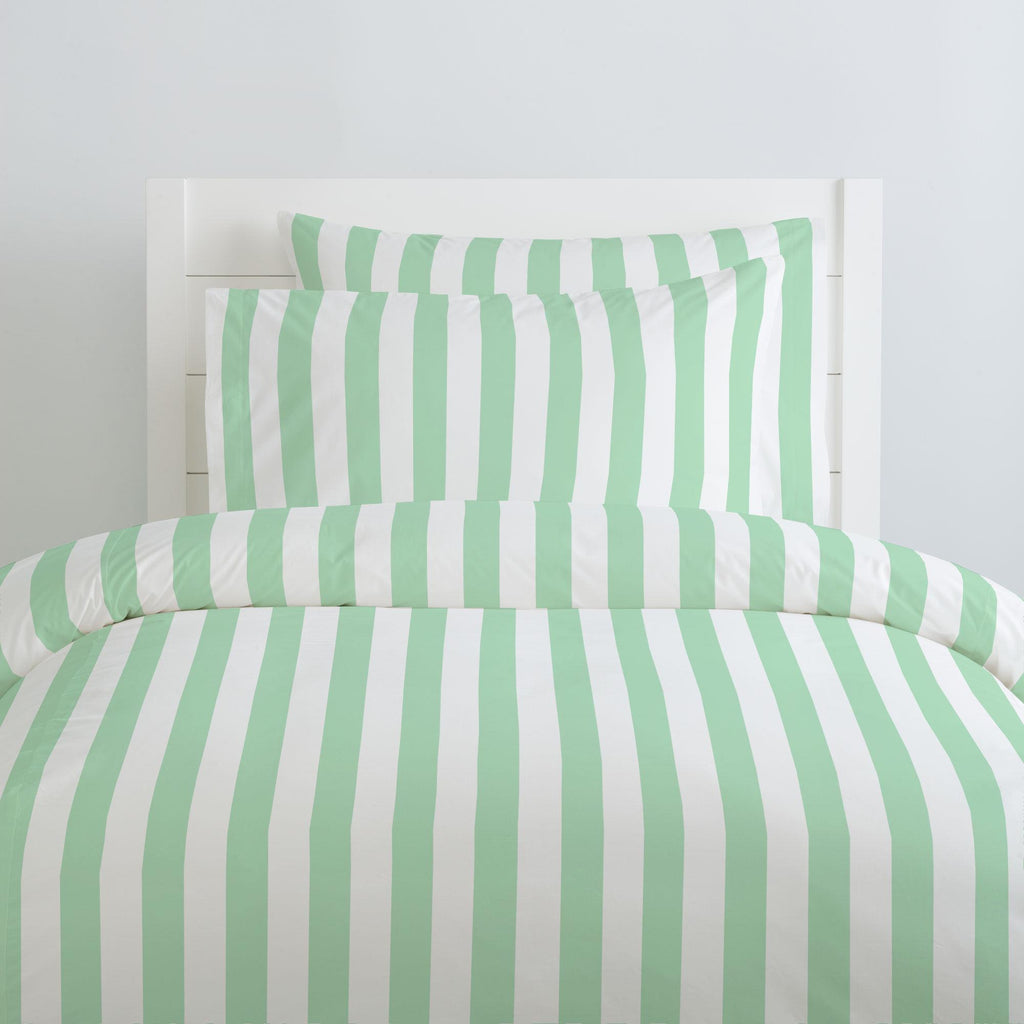 Product image for Mint Stripe Duvet Cover