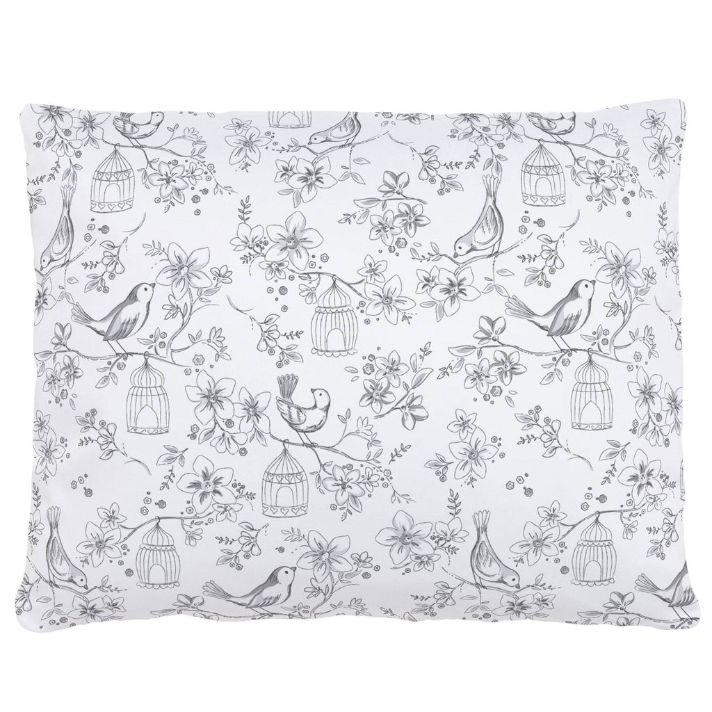 Product image for White and Gray Bird Cage Accent Pillow