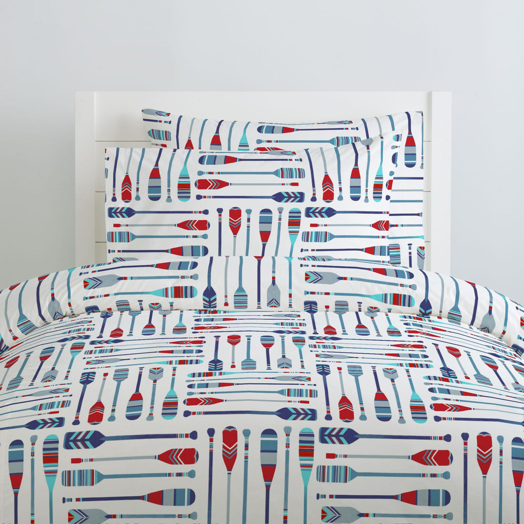 Product image for Red and Blue Oars Duvet Cover
