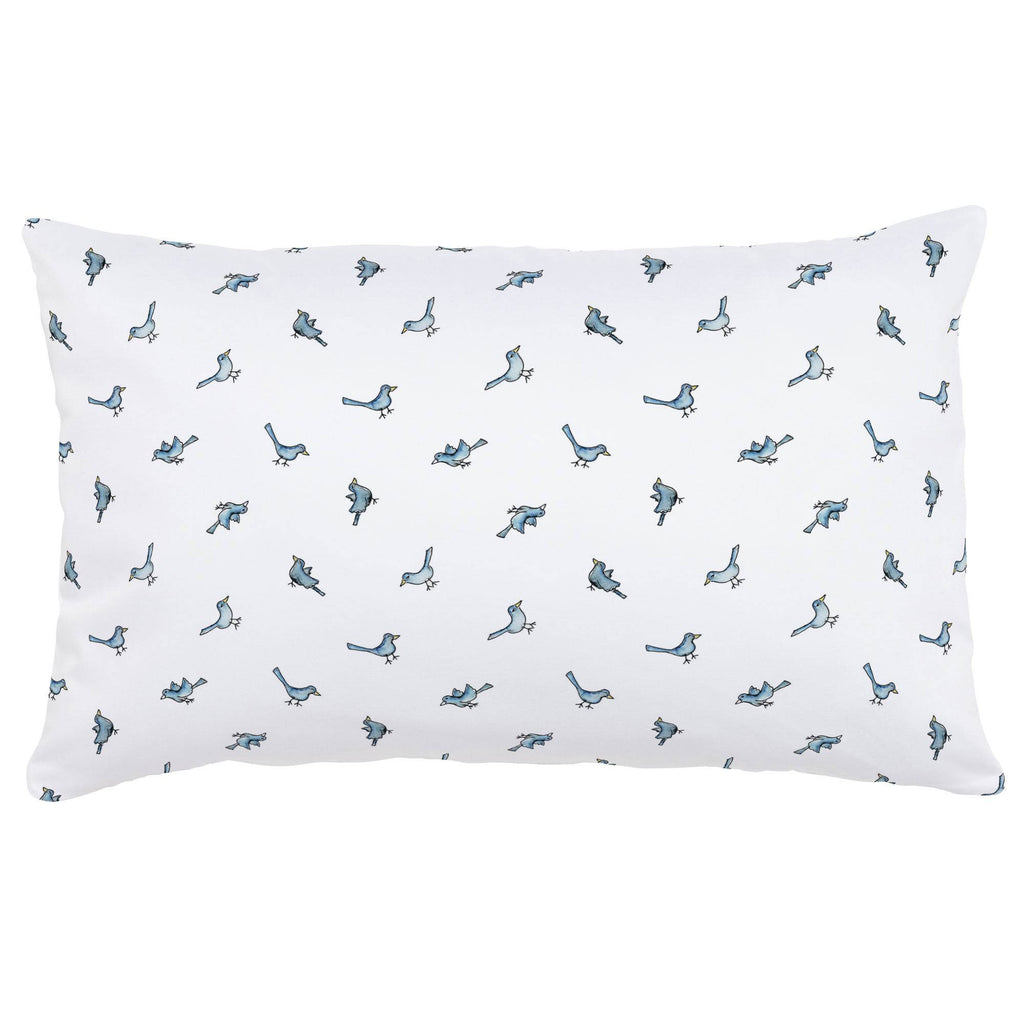 Product image for Blue Birds Lumbar Pillow