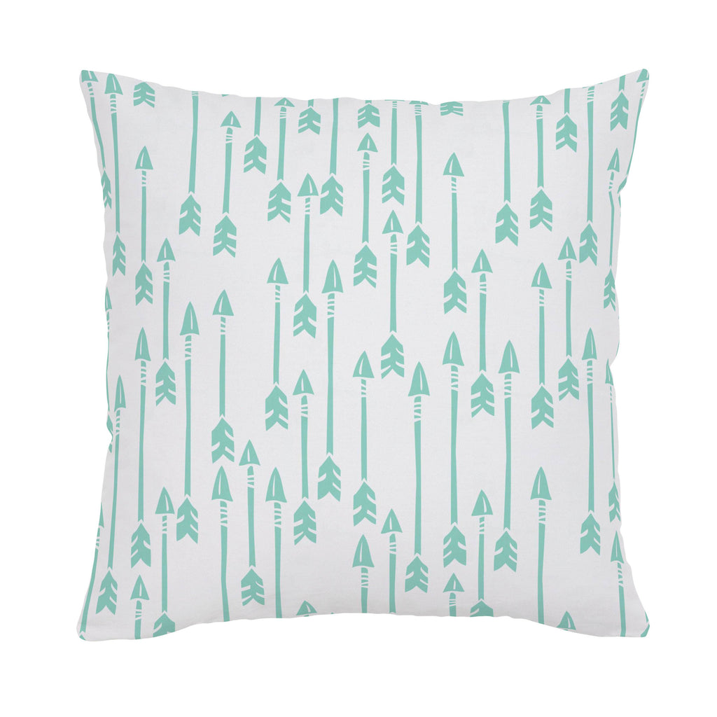 Product image for Mint Flying Arrow Throw Pillow
