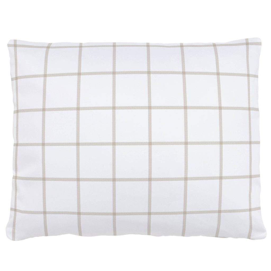 Product image for Taupe Windowpane Accent Pillow