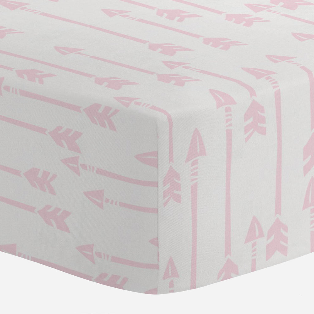 Product image for Pink Flying Arrow Crib Sheet