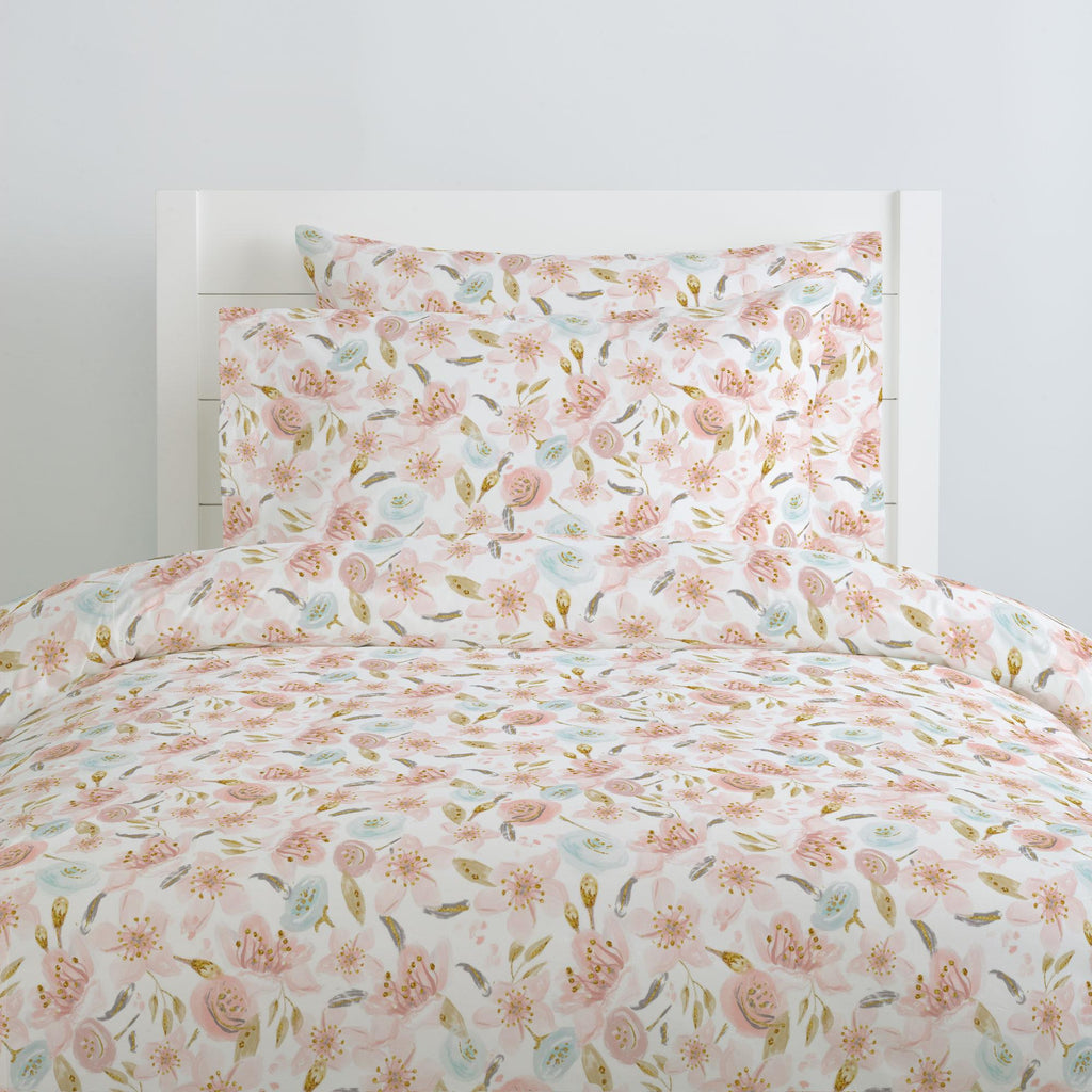 Product image for Pink Hawaiian Floral Duvet Cover