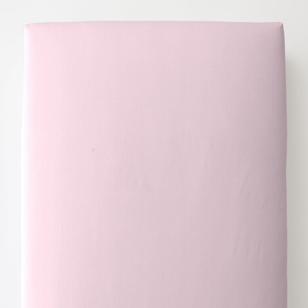 Product image for Solid Pink Minky Toddler Sheet Bottom Fitted