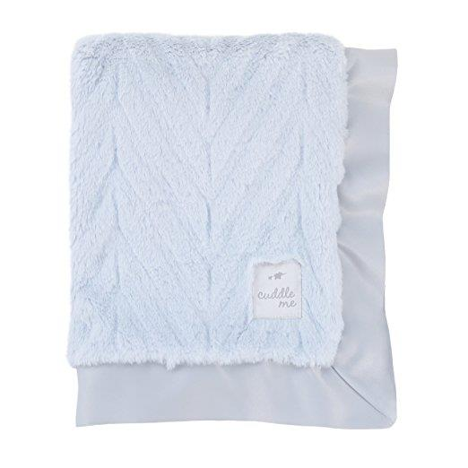 Product image for Blue Cuddle Me Plush Chevron Blanket
