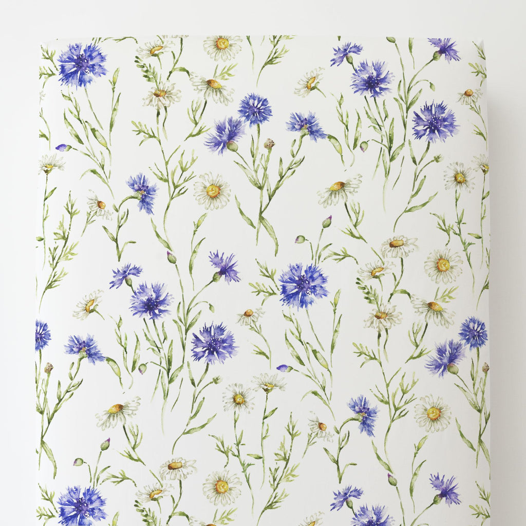 Product image for Cornflower Fields Toddler Sheet Bottom Fitted