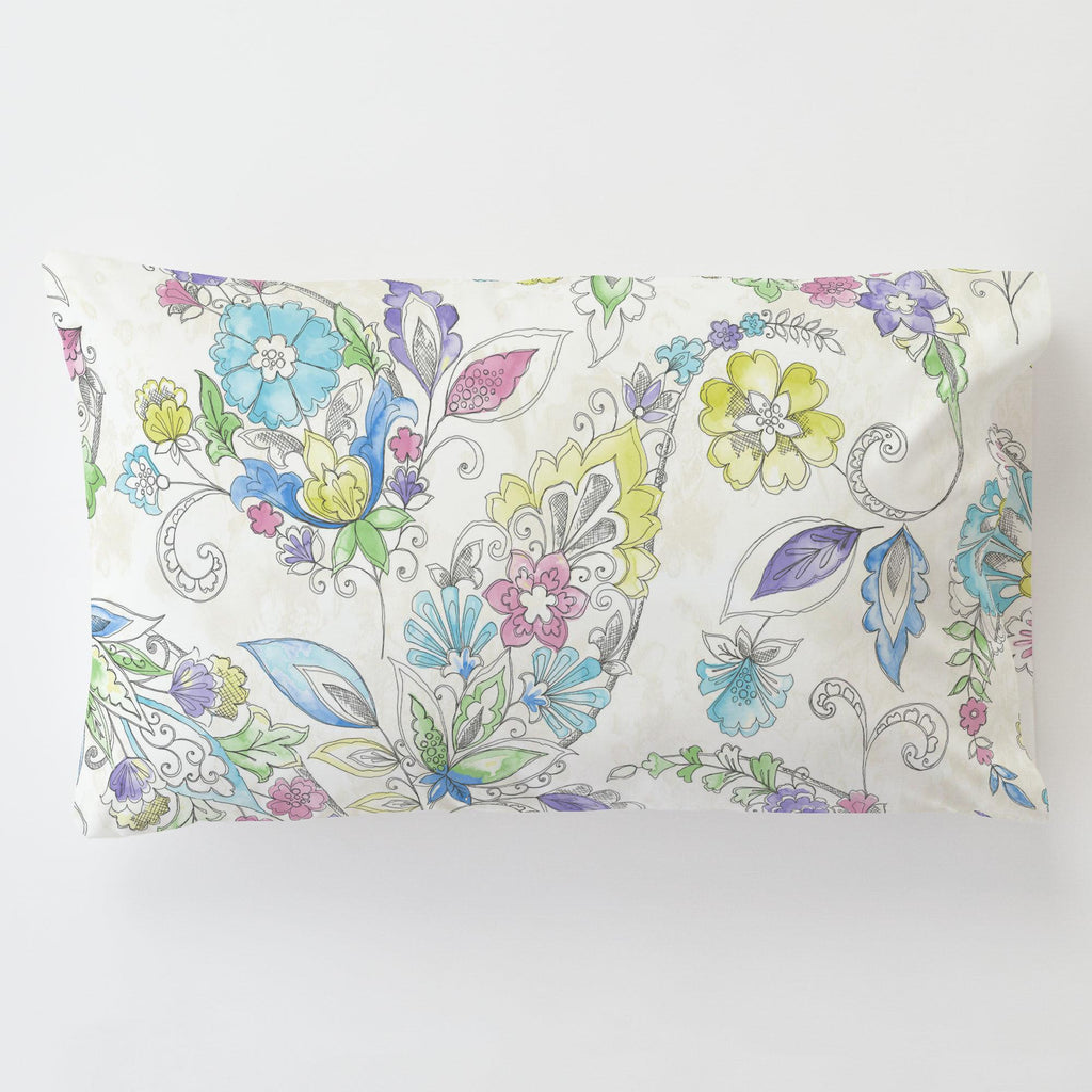 Product image for Sketchbook Floral Toddler Pillow Case with Pillow Insert