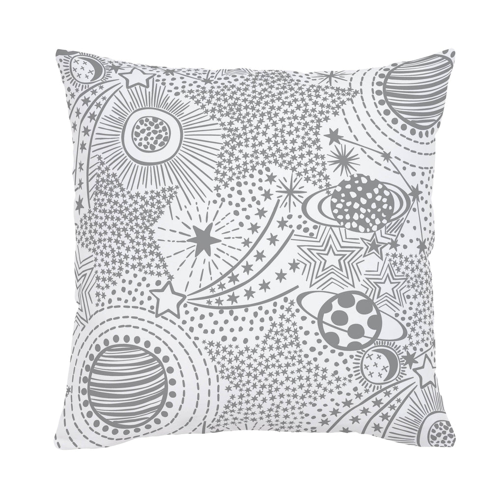 Product image for Cloud Gray Galaxy Throw Pillow