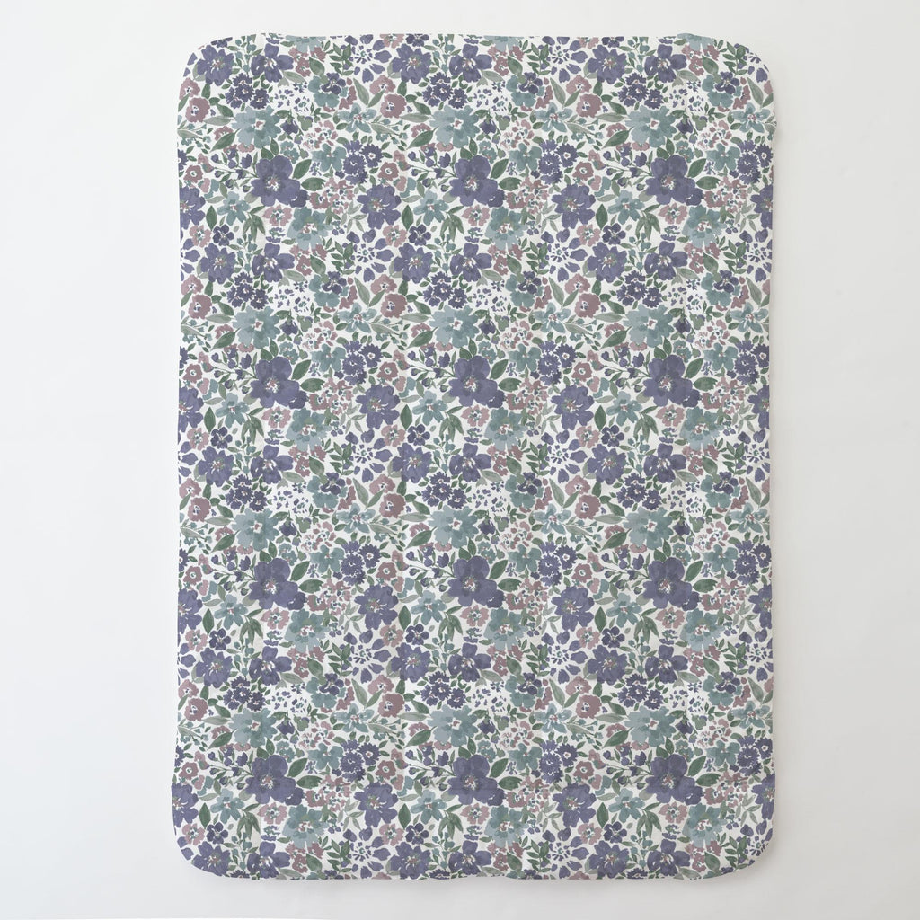 Product image for Purple Prairie Floral Toddler Comforter