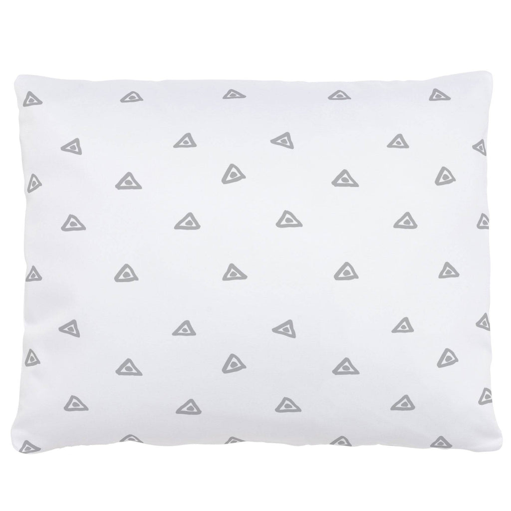 Product image for Silver Gray Triangle Dots Accent Pillow