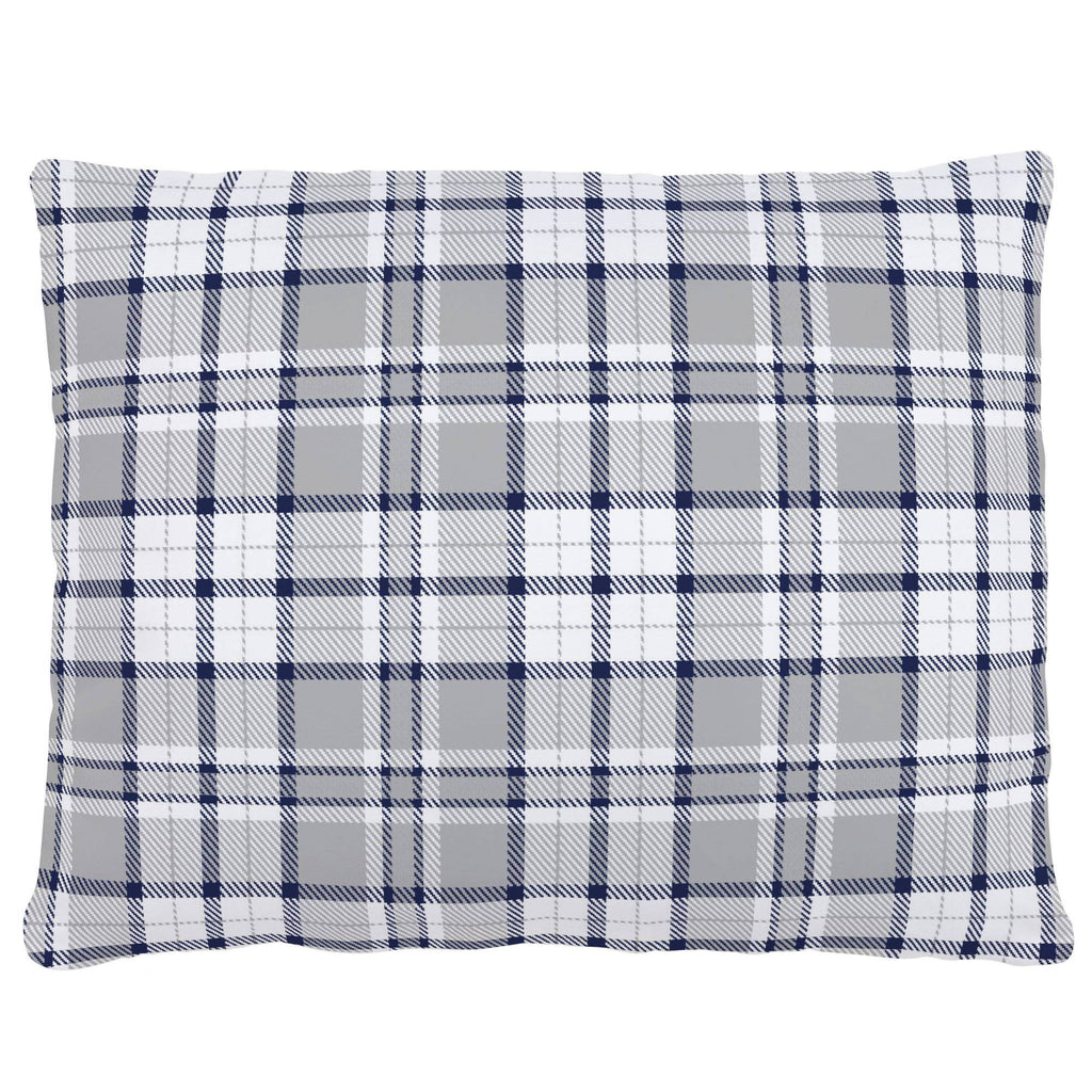 Product image for Navy and Gray Plaid Accent Pillow