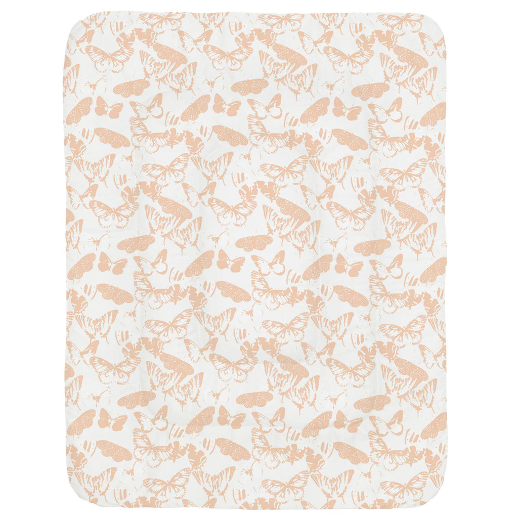 Product image for Peach Modern Butterflies Crib Comforter