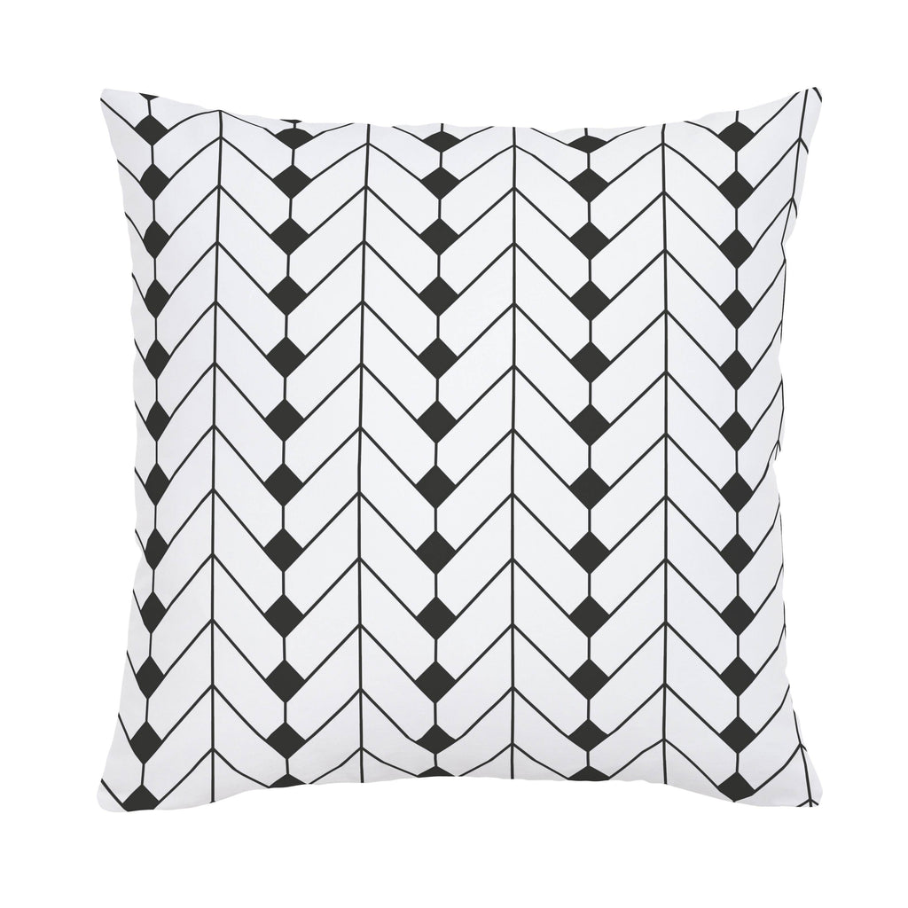 Product image for Charcoal Diamond Herringbone Throw Pillow