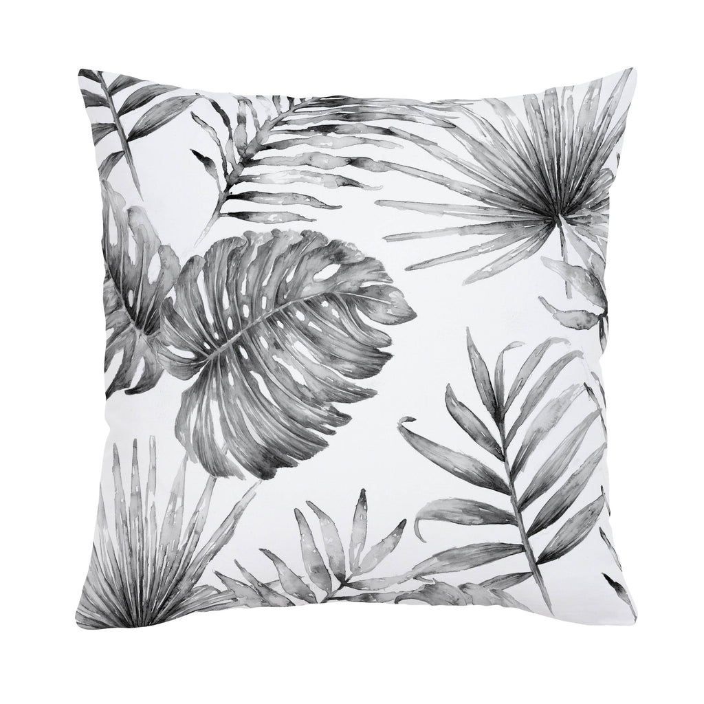 Product image for Gray Painted Tropical Throw Pillow