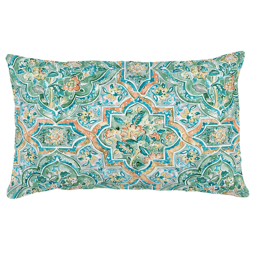 Product image for Watercolor Medallion Lumbar Pillow