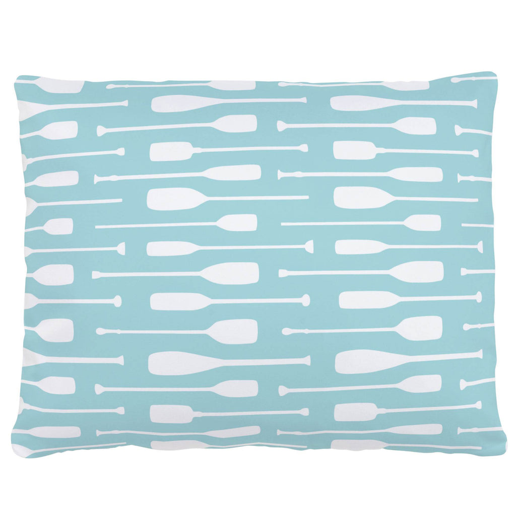 Product image for Seafoam Aqua and White Oars Accent Pillow