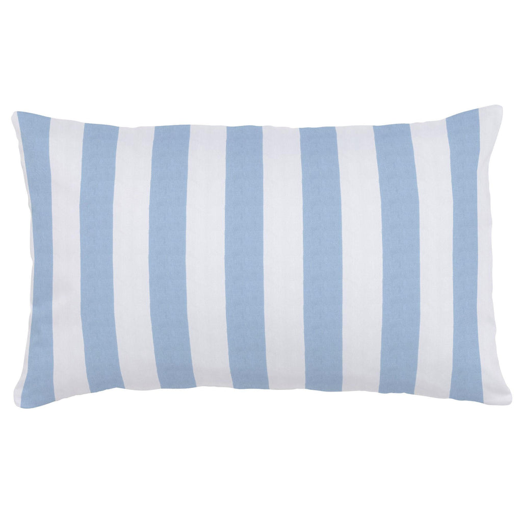 Product image for Blue Giddy Stripe Lumbar Pillow