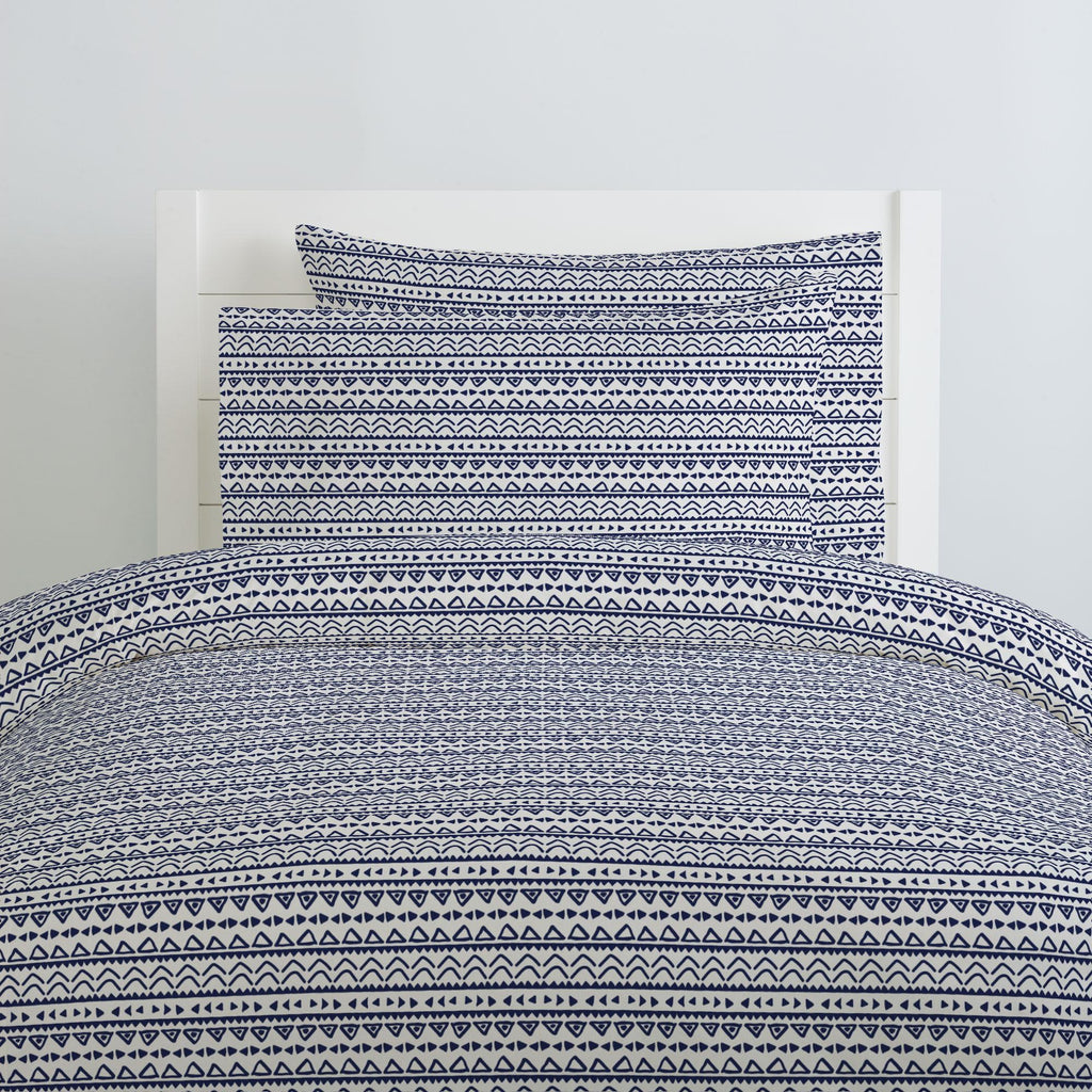 Product image for Windsor Navy Baby Aztec Duvet Cover