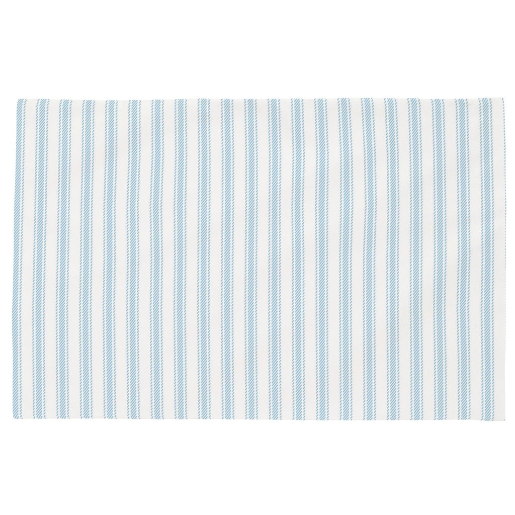 Product image for Lake Blue Ticking Stripe Toddler Pillow Case