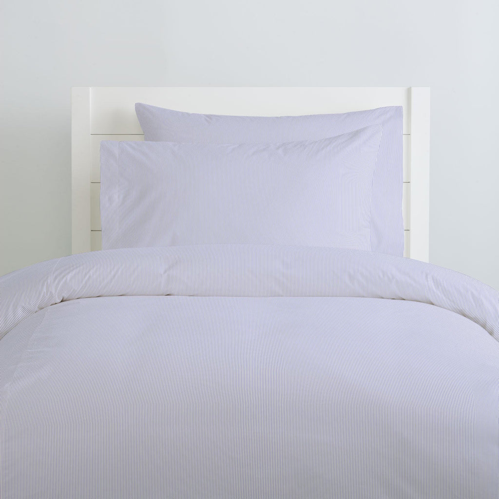 Product image for Lilac Mini Stripe Duvet Cover