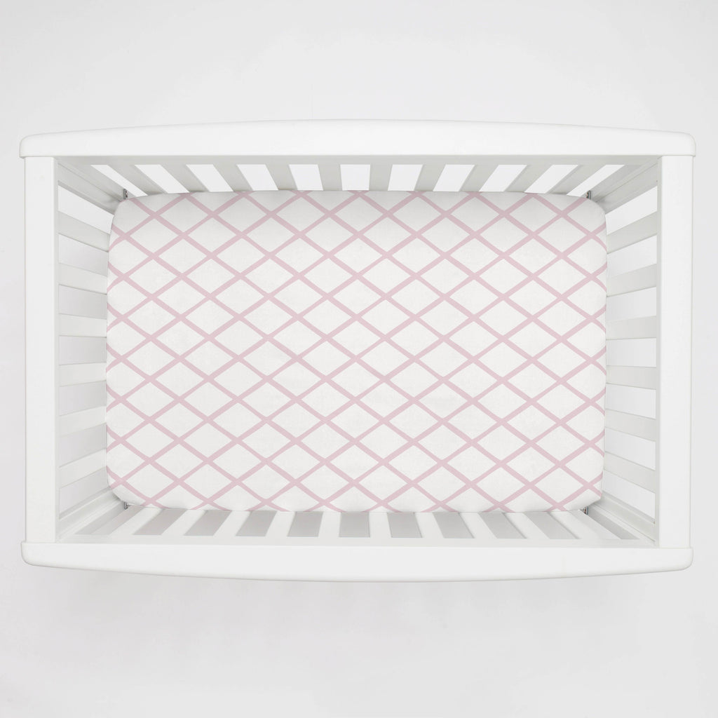 Product image for Pink Trellis Mini Crib Sheet