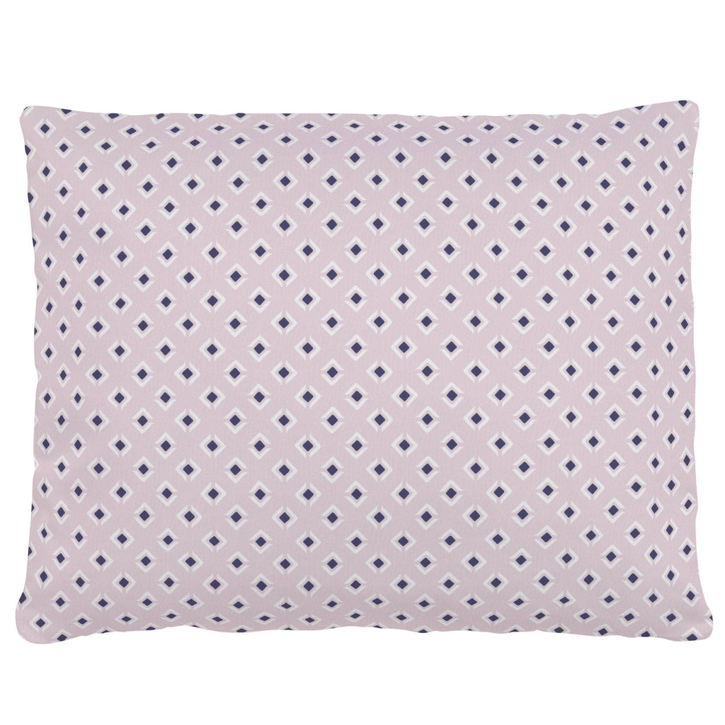Product image for Pink and Navy Diamond Accent Pillow