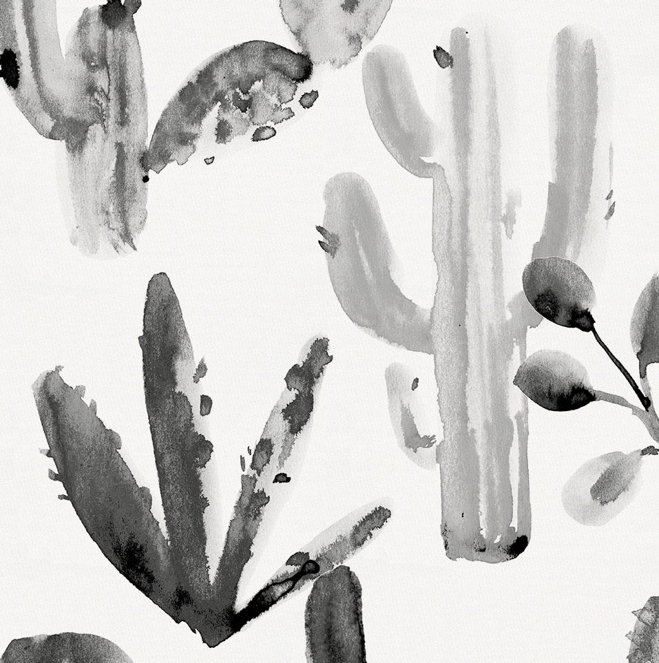 Product image for Charcoal Painted Cactus Fabric
