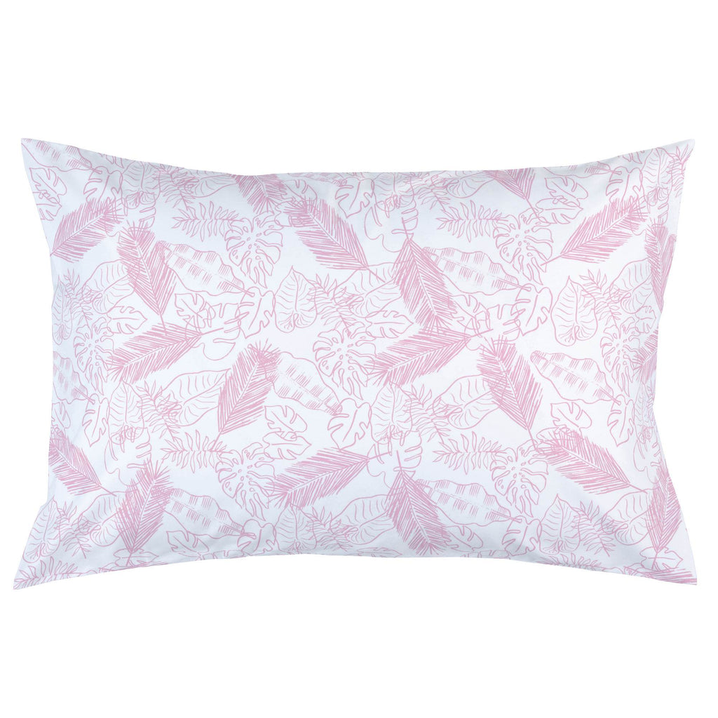 Product image for Bubblegum Palm Leaves Pillow Case